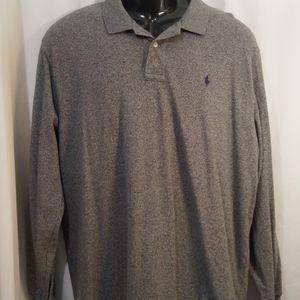 Polo by Ralph Lauren Long Sleeve Gray Shirt Sz XL
